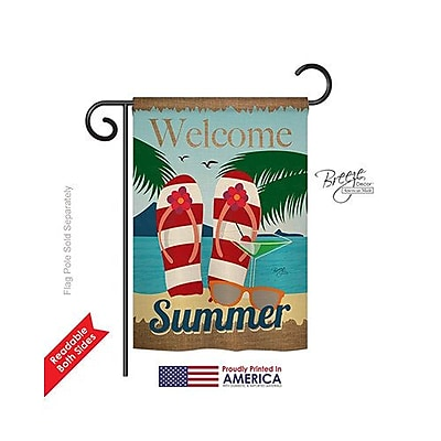 TwoGroupFlagCo Welcome Summer 2-Sided Vertical Flag; 40'' H x 28'' W