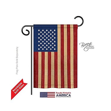 TwoGroupFlagCo USA Vintage 2-Sided Vertical Flag; 18.5'' H x 13'' W