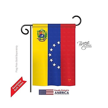 TwoGroupFlagCo Venezuela 2-Sided Vertical Flag; 18.5'' H x 13'' W
