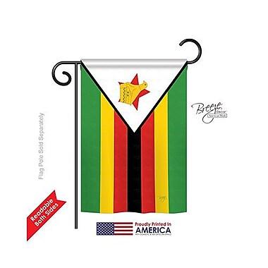 TwoGroupFlagCo Zimbabwe 2-Sided Vertical Flag; 40'' H x 28'' W