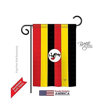 TwoGroupFlagCo Uganda 2-Sided Vertical Flag; 18.5'' H x 13'' W