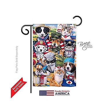 TwoGroupFlagCo Working Paws 2-Sided Vertical Flag; 18.5'' H x 13'' W