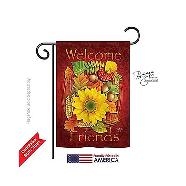 TwoGroupFlagCo Welcome Friends Fall 2-Sided Vertical Flag; 18.5'' H x 13'' W
