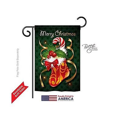TwoGroupFlagCo Xmas Stocking 2-Sided Vertical Flag; 18.5'' H x 13'' W