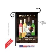 TwoGroupFlagCo Wine Me Up, Turn Me Loose 2-Sided Vertical Flag; 18.5'' H x 13'' W