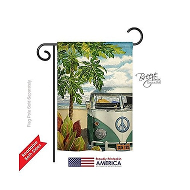 TwoGroupFlagCo Hula Girl 2-Sided Vertical Flag; 18.5'' H x 13'' W