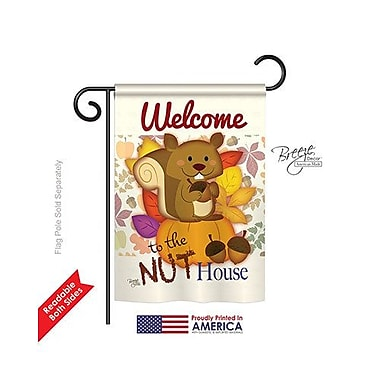 TwoGroupFlagCo Nut House 2-Sided Vertical Flag; 18.5'' H x 13'' W