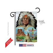 TwoGroupFlagCo Native American 2-Sided Vertical Flag; 18.5'' H x 13'' W