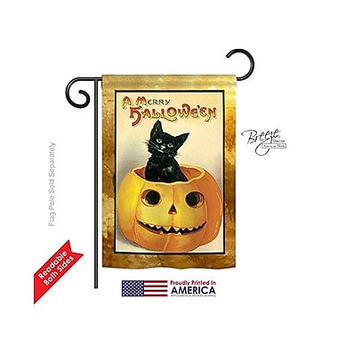 TwoGroupFlagCo Merry Halloween 2-Sided Vertical Flag; 18.5'' H x 13'' W