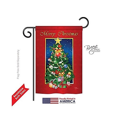 TwoGroupFlagCo Merry Christmas Tree 2-Sided Vertical Flag; 40'' H x 28'' W