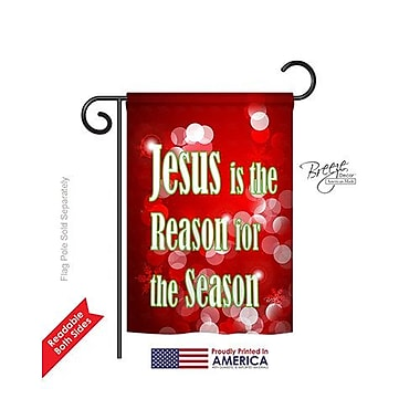 TwoGroupFlagCo Jesus is the Reason 2-Sided Vertical Flag; 40'' H x 28'' W