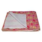 Taj Hotel Kantha Vintage Handmade Cotton Throw