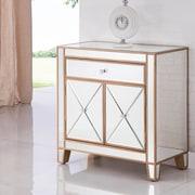 Elegant Lighting Contempo 1 Drawer 2 Door Accent Cabinet; Gold