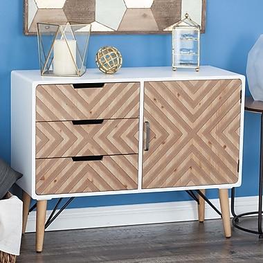 Cole & Grey 3 Drawer 1 Door Accent Cabinet