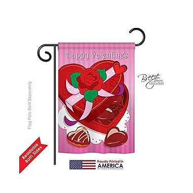 TwoGroupFlagCo Chocolates 2-Sided Vertical Flag; 40'' H x 28'' W