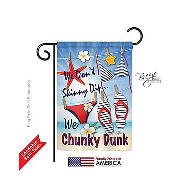 TwoGroupFlagCo Chunky Dunk 2-Sided Vertical Flag; 40'' H x 28'' W