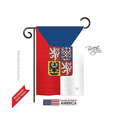 Breeze Decor Czech 2-Sided Vertical Flag; 18.5'' H x 13'' W