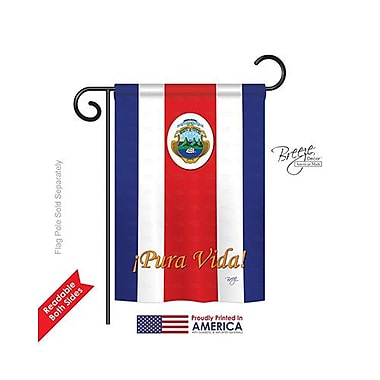 TwoGroupFlagCo Costa Rica 2-Sided Vertical Flag; 40'' H x 28'' W