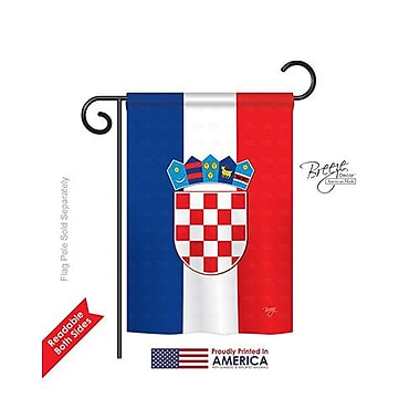 TwoGroupFlagCo Croatia 2-Sided Vertical Flag; 40'' H x 28'' W