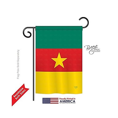 TwoGroupFlagCo Cameroon 2-Sided Vertical Flag; 18.5'' H x 13'' W