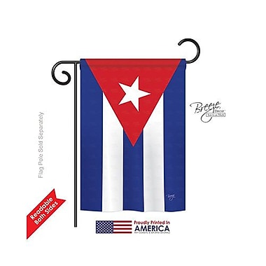 TwoGroupFlagCo Cuba 2-Sided Vertical Flag; 18.5'' H x 13'' W