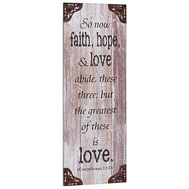 CKK Home D cor, LP Stonebriar Weathered Corinthians Textual Art on Wood