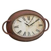CKK Home D cor, LP Stonebriar Metal Oval Wall Clock
