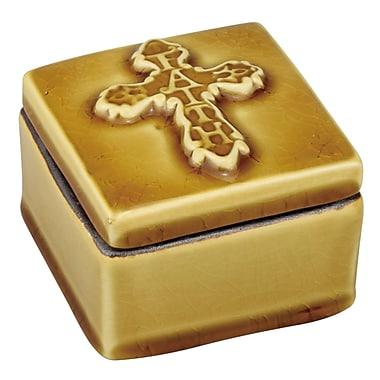 CKK Home D cor, LP Stonebriar Ceramic Faith Cross Decorative Box