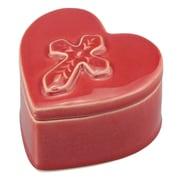 CKK Home D cor, LP Stonebriar Ceramic Heart Shaped Cross Decorative Box