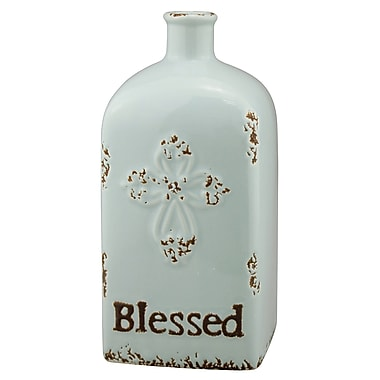 CKK Home D cor, LP Stonebriar Ceramic Blessed Table Vase