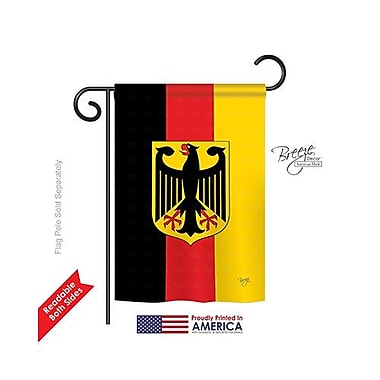 TwoGroupFlagCo Germany 2-Sided Vertical Flag; 18.5'' H x 13'' W