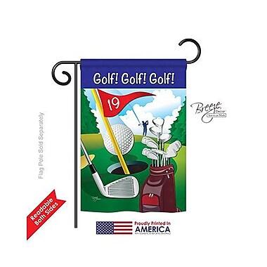 TwoGroupFlagCo Golf!, Golf!, Golf! 2-Sided Vertical Flag; 18.5'' H x 13'' W