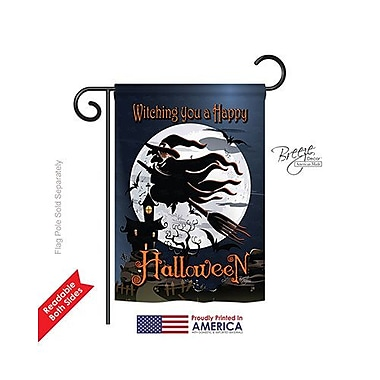TwoGroupFlagCo Happy Witching You 2-Sided Vertical Flag; 40'' H x 28'' W