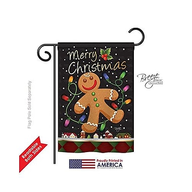 TwoGroupFlagCo Gingerbread 2-Sided Vertical Flag; 40'' H x 28'' W