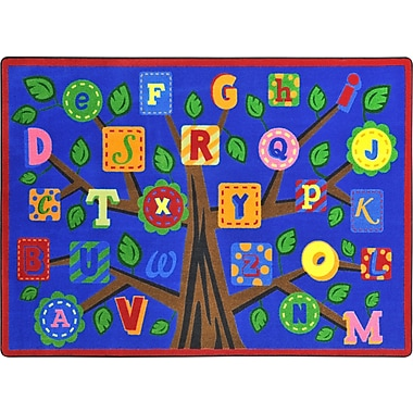 Joy Carpets – Tapis Alphabet leaves, 7 pi 8 po x 10 pi 9 po