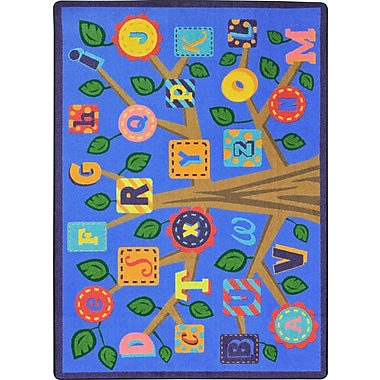 Joy Carpets – Tapis Alphabet Leaves, 10 pi 9 po x 13 pi 2 po, teintes douces