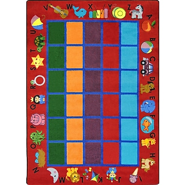 Joy Carpets – Tapis Alphabet Phonics, 7 pi 8 po x 10 pi 9 po, rouge