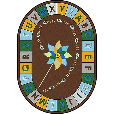 Joy Carpets Alphabet Pinwheel, 7'7