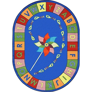 Joy Carpets Alphabet Pinwheel, 7'8