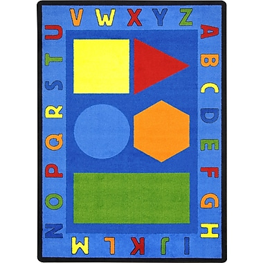 Joy Carpets – Tapis Alphabet Shapes, 7 pi 8 po x 10 pi 9 po, couleurs variées