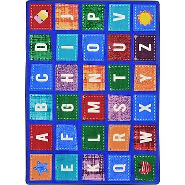 Joy Carpets – Tapis Alphabet Upcycle, 5 pi 4 po x 7 pi 8 po, couleurs variées
