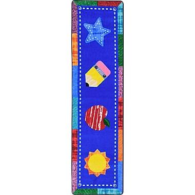 Joy Carpets – Tapis Alphabet Upcycle, 2 pi 1 po x 7 pi 8 po, couleurs variées
