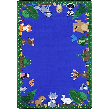 Joy Carpets – Tapis Animals Among Us, 5 pi 4 po x 7 pi 8 po, ovale, couleurs variées