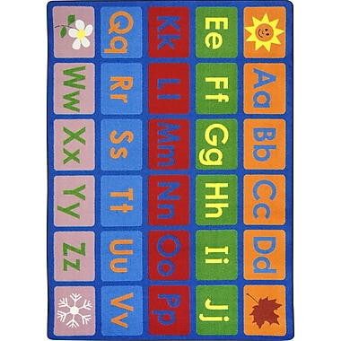Joy Carpets – Tapis Any day alphabet, 7 pi 8 po x 10 pi 9 po