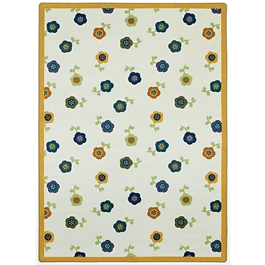 Joy Carpets – Awesome Blossom, 5 pi 4 po, tapis rond, teintes vives
