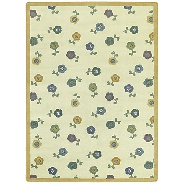 Joy Carpets – Awesome Blossom, 5 pi 4 po, tapis rond, teintes douces