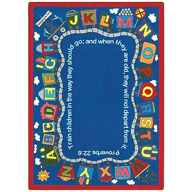 Joy Carpets – Tapis Bible Train, 10 pi 9 po x 13 pi 2 po, ovale, couleurs variées