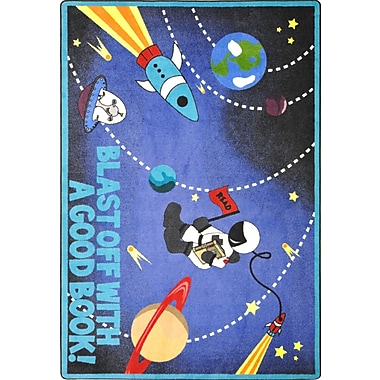 Joy Carpets – Tapis Blast Off With a Good Book, 5 pi x 7 pi 8 po, couleurs variées