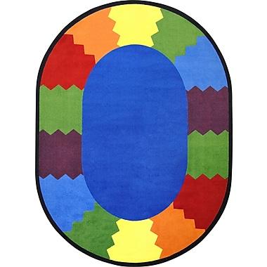 Joy Carpets – Tapis Block Party, 7 pi 8 po x 10 pi 9 po, ovale, couleurs variées