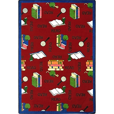 Joy Carpets – Tapis Bookworm, 3 pi 10 po x 5 pi 4 po, rouge